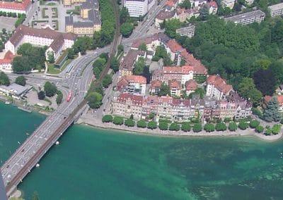 Konstanz Seestraße und alte Rheinbrücke